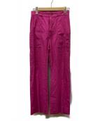 MACPHEE(マカフィー)の古着「リネン混パンツ」|ピンク