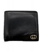 GUCCI(グッチ)の古着「2つ折り財布」 ブラック