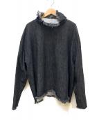 ASHLEY ROWE(アシュリーロウ)の古着「タートルネックデニムシャツ」|インディゴ