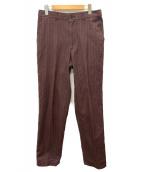 COMME des GARCONS SHIRT(コムデギャルソンシャツ)の古着「ストライプパンツ」|ワインレッド