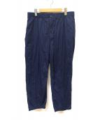 RANDT(アールアンドティー)の古着「Pima cotton pants」|ネイビー