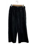FIRMUM(フィルマム)の古着「イージーワイドパンツ」|ブラック