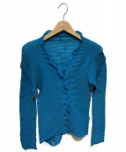 ISSEY MIYAKE FETE(イッセイミヤケ フェット)の古着「プリーツブラウス」|ブルー