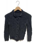 ISSEY MIYAKE FETE(イッセイミヤケ フェット)の古着「デザインシャツ」|ブラック