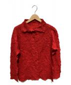ISSEY MIYAKE(イッセイミヤケ)の古着「デザインブラウス」|レッド