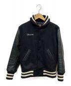 SKOOKUM(スクーカム)の古着「袖レザースタジャン」|ブラック