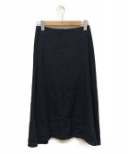 R(アール)の古着「EMBLEM LINEN フレアスカート」 ブラック