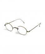 金子眼鏡(カネコメガネ)の古着「伊達眼鏡」|アンティークゴールド