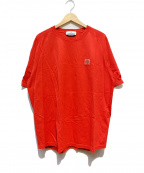 STONE ISLAND()の古着「ロゴTシャツ」 レッド