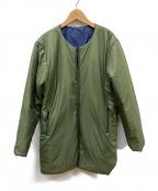 BURLAP OUTFITTER(バーラップアウトフィッター)の古着「リバーシブル中綿コート」|ネイビー