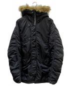 ALPHA(アルバ)の古着「N-3Bタイプコート」|ブラック
