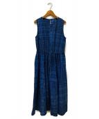 CHILD WOMAN(チャイルド ウーマン)の古着「ノースリーブワンピース」|ブルー