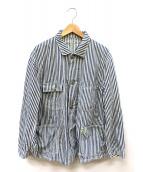 POST OALLS(ポストオーバーオールズ)の古着「カバーオール」|ブルー×ホワイト