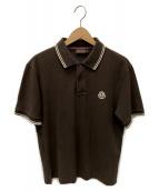 MONCLER(モンクレール)の古着「ポロシャツ」 ブラウン