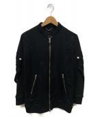 DIESEL(ディーゼル)の古着「ジップアップブルゾン」|ブラック