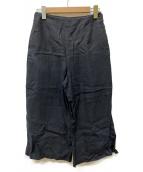 MARGARET HOWELL(マーガレットハウエル)の古着「リネンワイドパンツ」|ブラック