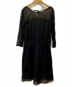 MARGARET HOWELL(マーガレットハウエル)の古着「ブラウスワンピース」|ブラック