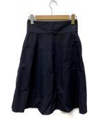MARGARET HOWELL(マーガレットハウエル)の古着「ジップスカート」 ブラック