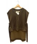 LEINWANDE(ラインヴァンド)の古着「Sweat Vest」|カーキ