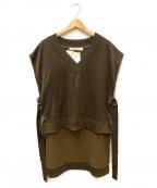 LEINWANDE(ラインヴァンド)の古着「Sweat Vest」 カーキ