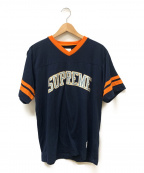 Supreme()の古着「glitter arc football top」|オレンジ×ネイビー