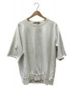 REMI RELIEF(レミレリーフ)の古着「別注カットオフショートスリーブスウェット」|オフホワイト