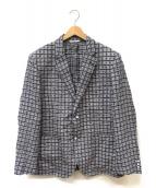 gee gellan(ジーゲラン)の古着「チェックジャケット」|ネイビー