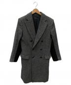 DRESSEDUNDRESSED(ドレスドアンドレスド)の古着「ピークドラペルダブルコート」 ブラック