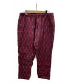 ()の古着「ジャガードイージーパンツ」|ワインレッド
