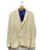 Cruciani(クルチアーニ)の古着「テーラードジャケット」|イエロー