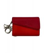 Christian Dior(クリスチャンディオール)の古着「バイカラー2つ折り財布」|ピンク×レッド