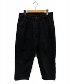 ()の古着「ビッグデニムパンツ」|ブラック