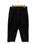 bukht(ブフト)の古着「ビッグデニムパンツ」 ブラック
