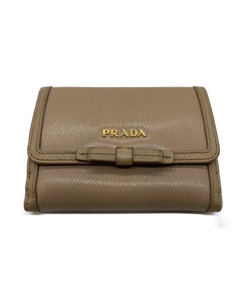 PRADA(プラダ)PRADA (プラダ) VITELLO MOVE FI ベージュ サイズ:表記なしの古着・服飾アイテム