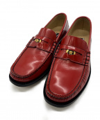 VERSACE(ヴェルサーチ)の古着「VERSACE WITH LOVE loafer」|レッド