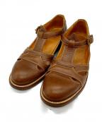 YUKETEN(ユケテン)の古着「Summer Leather Sandal」|アイボリー