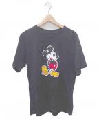 TAKAHIROMIYASHITA TheSoloIst.(タカヒロミヤシタザソロイスト)の古着「Mickey Mouse crewneck S/S tee」|ブラック