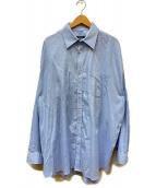 DRESSEDUNDRESSED(ドレスドアンドレスド)の古着「Logo Text Embroidered Oversize」 ブルー