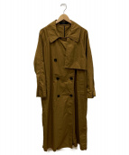MUNICH(ミューニック)の古着「vintage cotton twill big trenc」|ブラウン