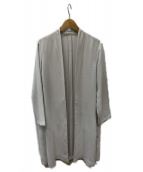 FRAY ID(フレイアイディー)の古着「ベルテッドガウンコート」|アイボリー