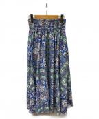 R JUBILEE(アール ジュビリー)の古着「総柄ロングスカート」 マルチカラー