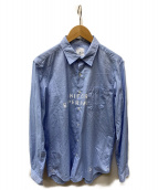 ()の古着「ロゴシャツ」 ブルー