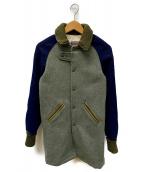 SKOOKUM(スクーカム)の古着「ロングスタジャン」|ネイビー×グレー