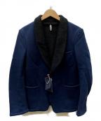 ms braque(エムズ ブラック)の古着「ボアショールジャケット」 ネイビー