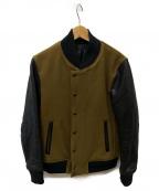 LOUNGE LIZARD(ラウンジリザード)の古着「スタジャン」|ブラウン×ブラック