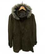 TORNADO MART(トルネードマート)の古着「T/Cスエードスタンドフーデッドコート」|オリーブ