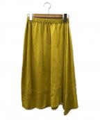 JURGEN LEHL(ヨーガンレール)の古着「コットンリネンロングスカート」 イエロー