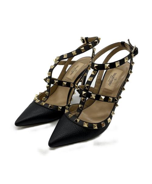VALENTINO(バレンティノ)VALENTINO (バレンティノ) ロックスタッズ パンプス ブラック サイズ:35の古着・服飾アイテム
