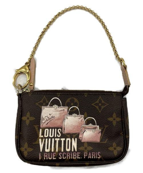 LOUIS VUITTON(ルイヴィトン)LOUIS VUITTON (ルイヴィトン) ミニ・ポシェット・アクセソワール ブラウン モノグラム M60245 DU2190の古着・服飾アイテム