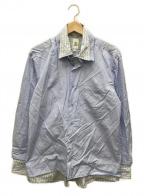 MANDO(マンドー)の古着「レイヤードシャツ」|ブルー